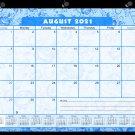2021-2022 Academic Year 12 Months Student Calendar/Planner -v024 (Blue Flowers)