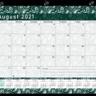 2021-2022 Academic Year 12 Months Student Calendar/Planner -v025 (Green Paisley)