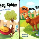The Itsy Bitsy Spider, One. Two. Bucke My Shoe - Children's Board Book (Set of 2 Books)
