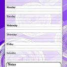 Magnetic Dry Erase Calendar - White Board Planner for Refrigerator / School Lockers - Fractal 3/02