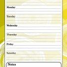 Magnetic Dry Erase Calendar - White Board Planner for Refrigerator / School Lockers - Fractal 3/03