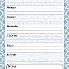 Magnetic Dry Erase Calendar - White Board Planner for Refrigerator / School Lockers - 3/05