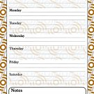 Magnetic Dry Erase Calendar - White Board Planner for Refrigerator / School Lockers - 3/07