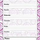 Magnetic Dry Erase Calendar - White Board Planner for Refrigerator / School Lockers - Fractal 3/08