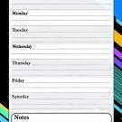 Magnetic Dry Erase Calendar - White Board Planner for Refrigerator - 3/021