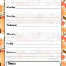 Magnetic Dry Erase Calendar - White Board Planner for Refrigerator - 3/026