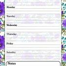 Magnetic Dry Erase Calendar - White Board Planner for Refrigerator - Flowers 3/028