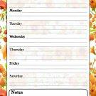 Magnetic Dry Erase Calendar - White Board Planner for Refrigerator - Flowers 3/029