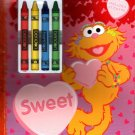 Sesame Street - Be My Sweet Valentine - Coloring & Activity Book with Includes Stickers