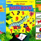 My First Book - Words, Math, Picture Dictionary - Coloring & Activity Books (Set of 3 Books)