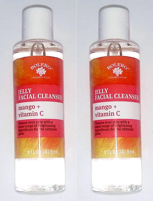 Bolero Jelly Facial Cleanser - Mango + Vitamin C 5fl oz 147.8ml (Set of 2 Pack)