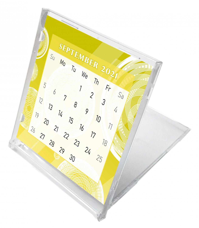 2021 - 2022 CD-Style Desk Calendar 16 Months Calendar / Planner / (Edition #02)