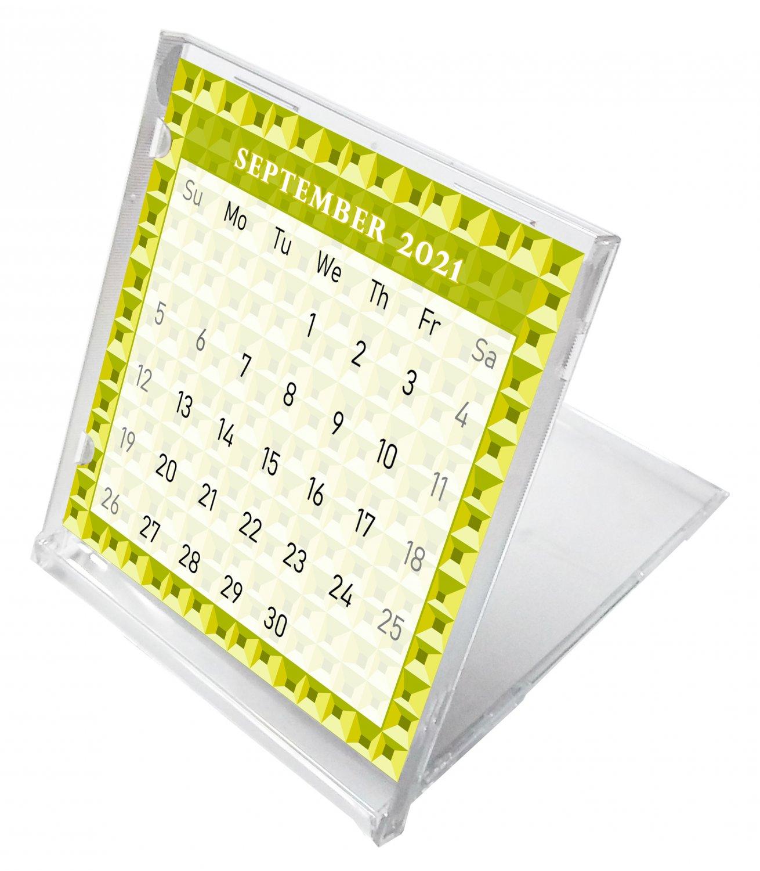 2021 - 2022 CD-Style Desk Calendar 16 Months Calendar / Planner / (Edition #03)