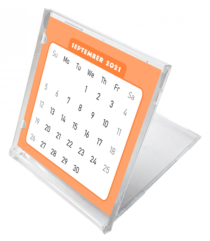2021 - 2022 CD-Style Desk Calendar 16 Months Calendar / Planner / (Edition #07)