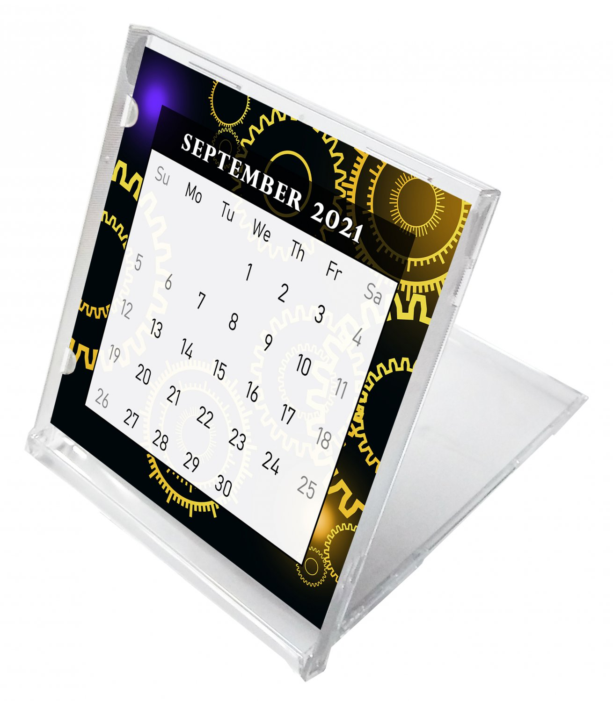 2021 - 2022 CD-Style Desk Calendar 16 Months Calendar / Planner / (Edition #09)
