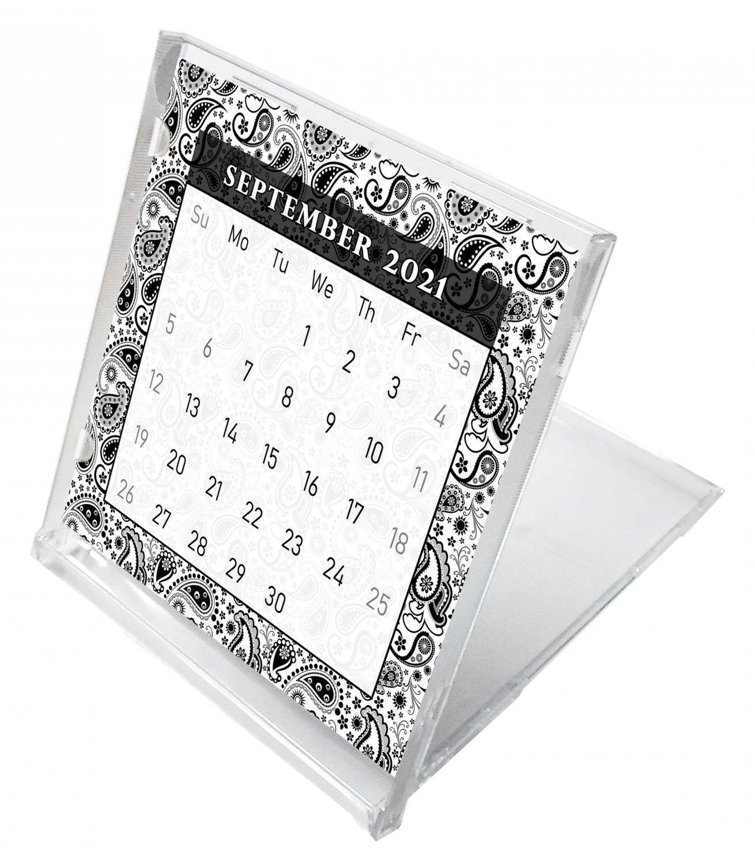 2021 - 2022 CD-Style Desk Calendar 16 Months Calendar / Planner / (Edition #011)