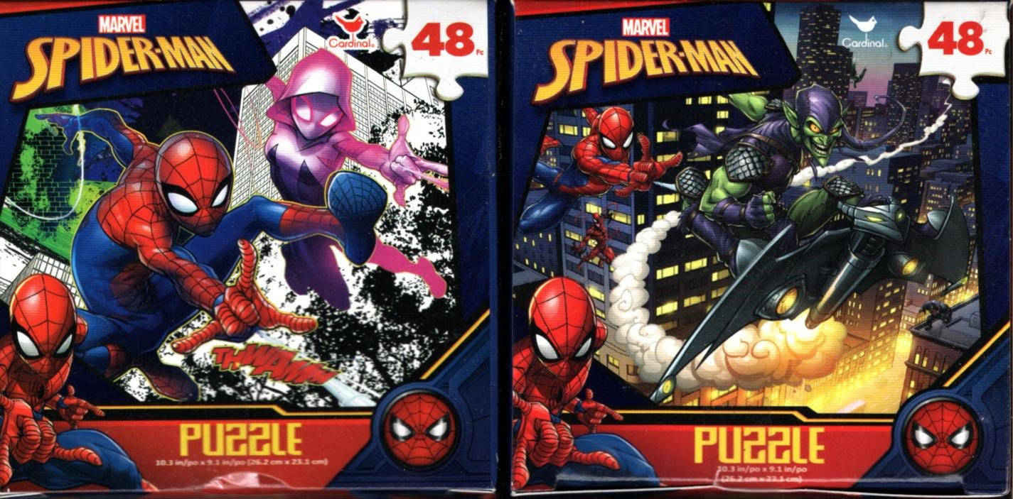 Marvel Spider-Man - 48 Pieces Jigsaw Puzzle (Set of 2) v2