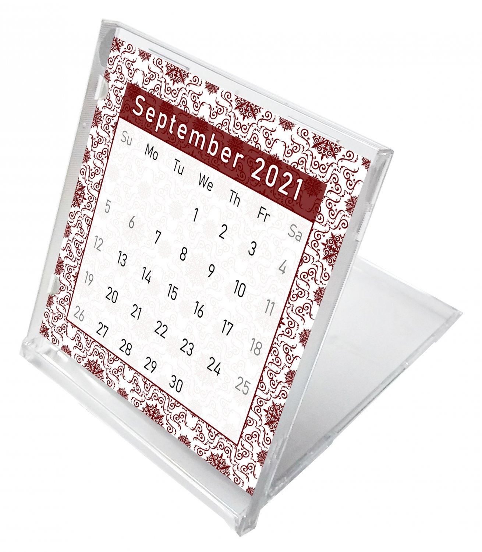2021 - 2022 CD-Style Desk Calendar 16 Months Calendar / Planner / (Edition #014)