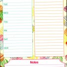 "List Pad Weekly Planner Calendar - Weekly Menu, List To Do, Notes) 5.5"" X 8.5"""