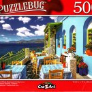 Blue and White Restaurant, Kalymnos - 500 Pieces Jigsaw Puzzle for Age 14+