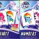 Hasbro My Little Pony Flash Cards - Numbers, Alphabet - PreK-K (Set of 2 Pack)