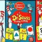Dr.Seuss Flash Cards - Numbers, Alphabet, Color&Shapes, - PreK-K (Set of 3 Pack)