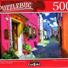 Bright Pink Building in Burano Island, Venice, Italy - 500 Pieces Jigsaw Puzzle