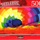 Colorful Checkered Hot Air Balloon - 500 Pieces Jigsaw Puzzle