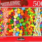 Rows of Assorted Candy - 500 Pieces Jigsaw Puzzle