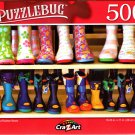 Colorful Rubber Boots - 500 Pieces Jigsaw Puzzle