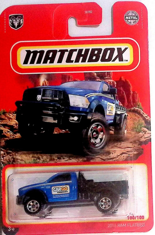 2021 MATCHBOX 2016 RAM FLATBED 100/100 (Blue)
