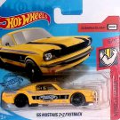 HOT WHEELS 2019 '65 FORD MUSTANG 2+2 FASTBACK MUSCLE MANIA 8/10 Yellow