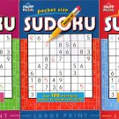 Large Print Pocket Size Sudoku Puzzles - Over 100 Challenging Puzzles  - Vol.1-3