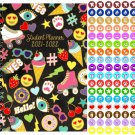 2021 - 2022 Student Academic Planner Calendar - (Spiral Bound) + 100 Reminder Stickers v2