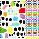 2021 - 2022 Student Academic Planner Calendar - (Spiral Bound) + 100 Reminder Stickers v3