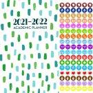 2021 - 2022 Academic Planner Calendar - School College Weekly (Spiral Bound) + 100 Stickers v3