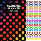 2021 - 2022 Academic Planner Calendar - School College Weekly (Spiral Bound) + 100 Stickers v4