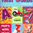 Stick-to Learning - First Words - Sticker Book