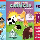 Stick-to Learning - First Words, Animals, Treasure Hunt - Sticker Book (Set of 3 Books)