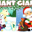 Christmas Edition Giant Coloring and Activity Book 160 Page (Set of 2 Books)