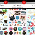 Let's Planner Stickers - 375 Ps + 304 Ps + 231 Ps Stickers Autocollants (Set of 3)