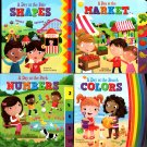 A Day at the Park Number, at the Beach Colors, at the Fair Shapes, at the Market- Book