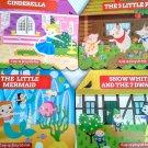 A Pop-Up Fairy Tale: Cinderella, 3 Little Pigs, Little Mermaid & Snow White - Set of 4 Books