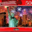 Statue of Liberty at Sunset and New York City Skyline - 500 Pieces Jigsaw Puzzle