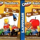 Hasbro Tonka Chuck & Friends Flash Cards - Numbers, Alphabet - PreK-K (Set of 2 Pack)