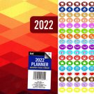 2022 Planner Calendar - School College Monthly Agenda - Appointment Book Organizer + 100 Stickers v1