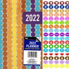 2022 Planner Calendar - School College Monthly Agenda - Appointment Book Organizer + 100 Stickers v2