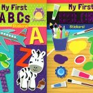Flowerpot Press My First Sticker Book Collection - Colors, ABC - Set of 2 Books