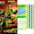 Teenage Mutant Ninja Turtles - Halloween Jumbo Coloring & Activity Book + Award Stickers and Charts