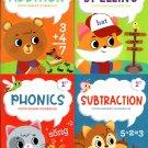 Good Grades First Grade Educational Workbooks Spelling, Phonics, Addition, & Subtraction